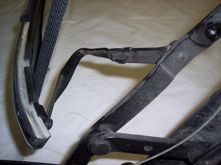 Another view of the original damaged linkage